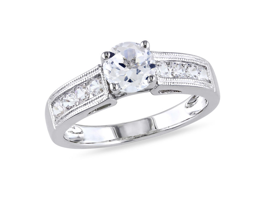 rings silver diamond promise best created sterling sapphire miadora of white and stone